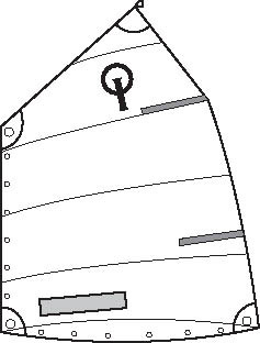 Optiparts CLUB OPTIMIST SAIL WITH WINDOW And button (1059)