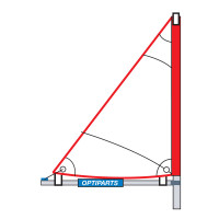Optiparts TRI SAIL WITH MAST AND MINIBOOM (1064)