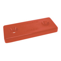 Optiparts MOUNTINGPLATES PLASTIC - RED - 10 PIECES (14532-10)
