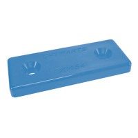 Optiparts MOUNTINGPLATES PLASTIC - BLUE - 10 PIECES (14533-10)